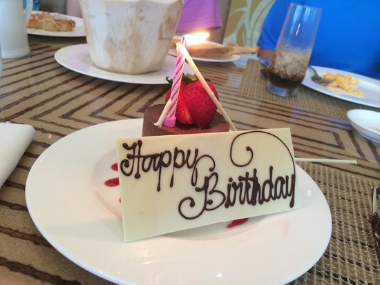 Fairmont Makati: another surprise cake during breakfast