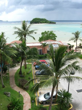 Hotel Santa Fe Guam: View from my room, north side, top (5th) floor.