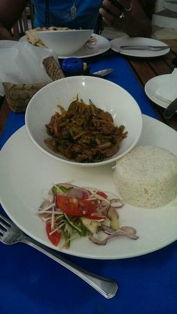 Pilipan Restaurant - Watamu: The beef stir fry