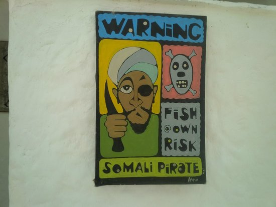 Pilipan Restaurant - Watamu: The sign outside the toilet