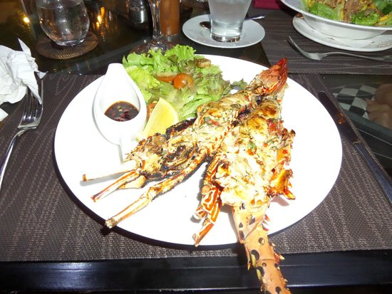 The Villas Bali Hotel & Spa : Delicious baby lobster at the hotel restaurant