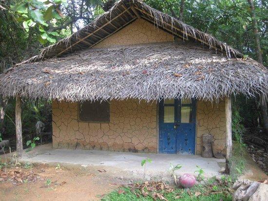 Bentota, Sri Lanka: Front view of the traditional cottage in the ashramaya