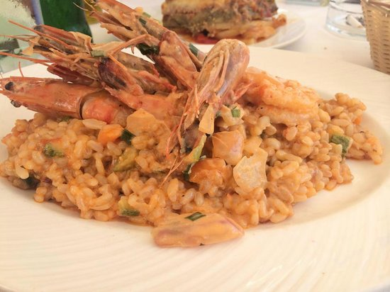 Niko's Taverna : Risotto with shrimps & vegetables (DELICIOUS!)
