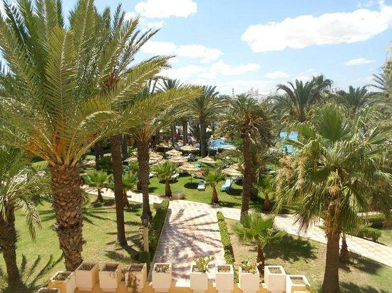 Houda Golf and Beach Club: Vue du jardin et de la piscine