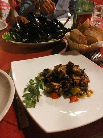 Ristorante Da Giovanni: Insalata di polpo su caponata di verdure