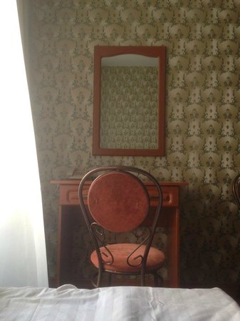 Popov: Desk and mirror in our room