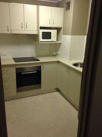 Pavilion on Northbourne: one bedroom appt kitchen area