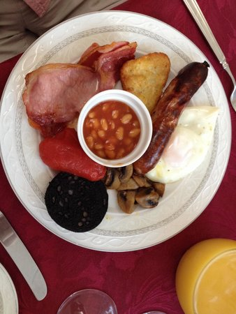The Toulson Court: Here's the superb cooked breakfast!