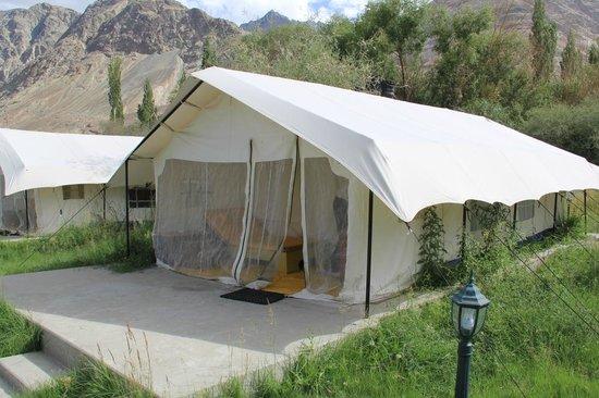 Desert Himalaya Resort one of the luxury tents & one of the luxury tents - Picture of Desert Himalaya Resort Nubra ...
