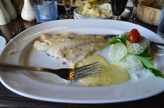 The Moorings : plat de cabillaud