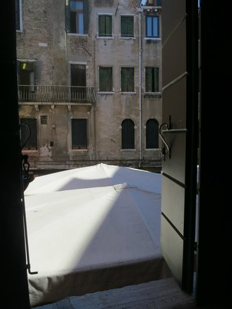 Hotel Diana: view from the room-neighbour on a Michelin star restaurant