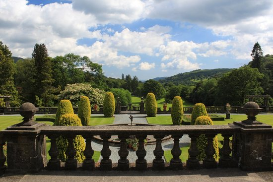 View from the terrace at Rydal Hall