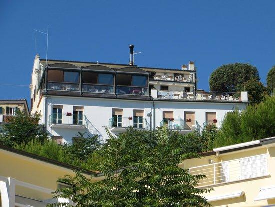 Hotel Bellavista: hotel, vista dalla spiaggiola