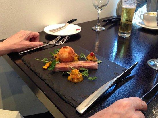 Fusion Room: Ham Hock Terrine, crispy egg
