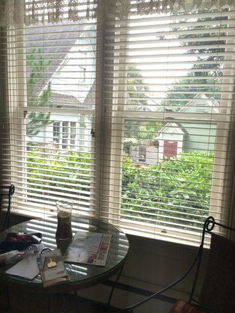 Centrella Inn: Window to the garden