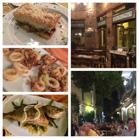 Lithos: Mousaka-must eat! Fried calamari-very fresh, fish of the day-not my thing but hubby enjoyed. Int