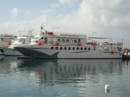 Mitsis Blue Domes Resort & Spa: Captain Dimitris - trip to Nissyros