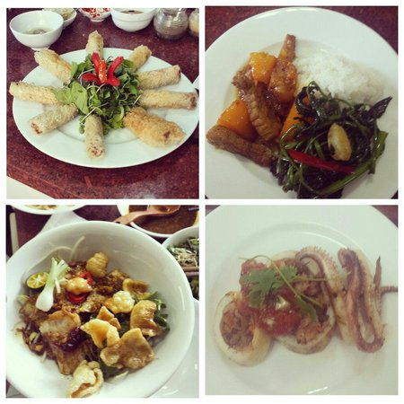Green Bamboo Cooking School & Cafe: Some of the dishes we made