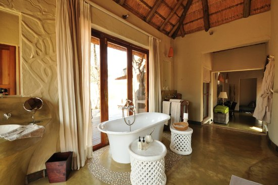 Madikwe Hills Private Game Lodge : Bathroom with a view
