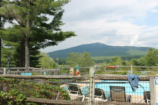 The Inn at East Hill Farm: mt monadnock from the inn's swimming pool