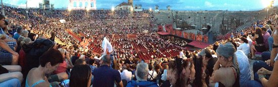 Arena di Verona: The Arena filling up before the start of Carmen