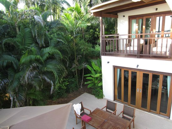 The Village Coconut Island Beach Resort: Balcony and poolside area