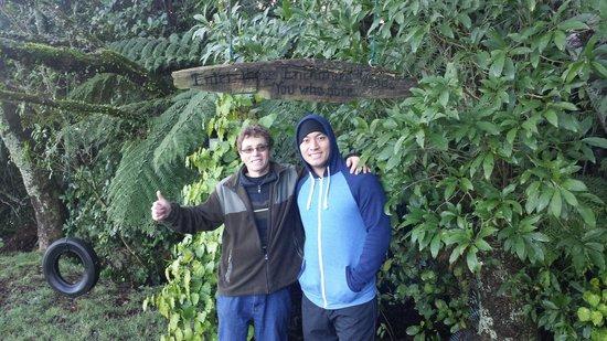 Mount Tutu Eco-Sanctuary : Tim & Dane on the nature walk