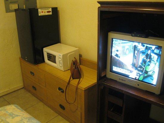 Travelers Inn Motel : the tc and fridge