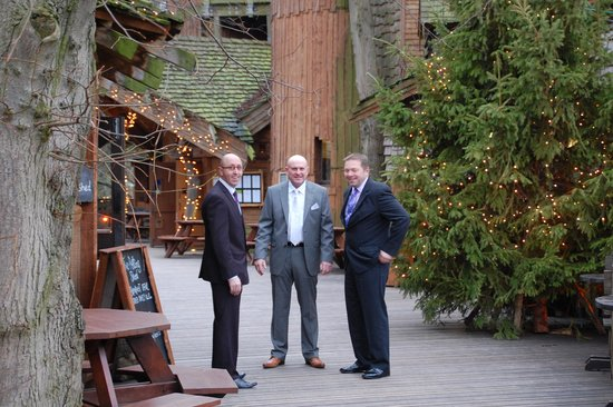 The Treehouse Restaurant at the Alnwick Garden: George , Andy and Grant