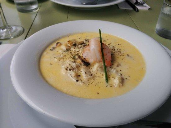 Seaside Shanty: seafood chowder