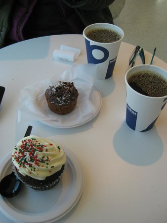 The Museum of Modern Art (MoMA): Coffee and muffins from the cafe