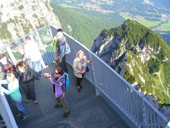 Alpspitz : Blick von der oberen Plattform