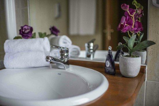 Hotel Villa de Elciego : Habitación con baño completo