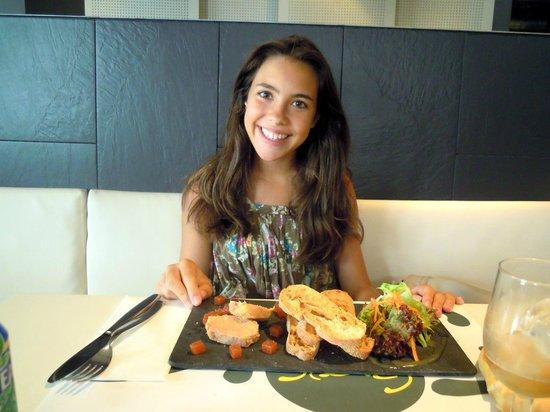 Restaurant El Groc: Foie - primer plato.
