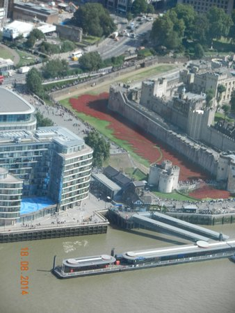 The View from The Shard: Sea of poppys Tower of London