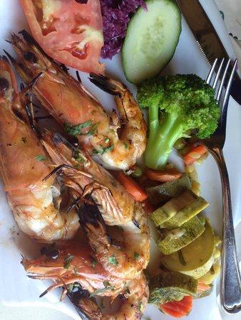 Elia - Olive Restaurant : Большие креветки