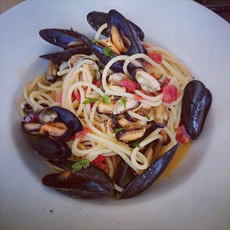 Castiglioncello, Italia: Спагетти с мидиями