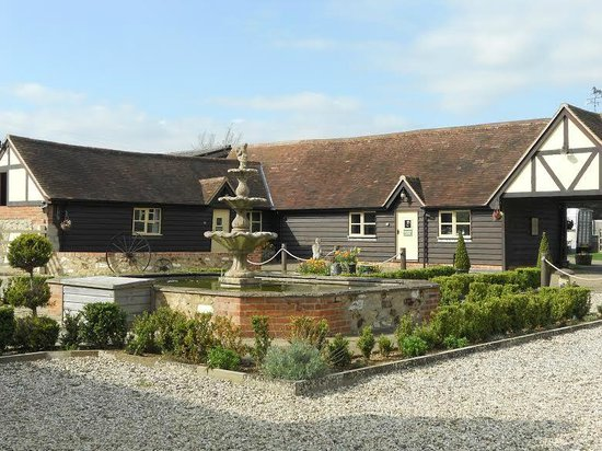 Common Leys Farm: View of Courtyard from Main House