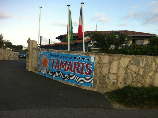 Tamaris Plage : Entrée du camping