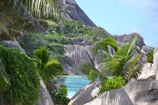 La Digue Island, Seychellerne: dal sentiero