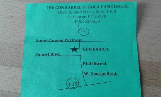 Gun Barrel Steak & Game House : indirizzo del locale