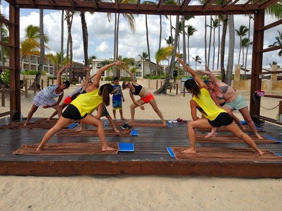 Memories Splash Punta Cana: Yoga on the beach