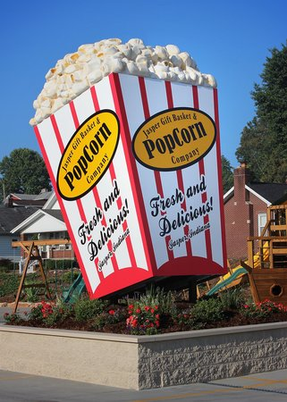 Jasper, IN: You'll have to take your photo by our 17ft. tall popcorn box, when you arrive at our store! Then