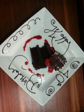 Village Hotel Bournemouth: Birthday plate done as a surprise by the Verve Grill Team