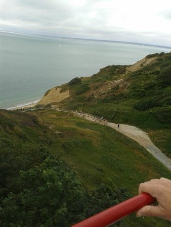 The Needles: The pathway down to the beach