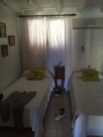 Ibiza Rocks House at Pikes Hotel: Dimly lit and basic bedroom