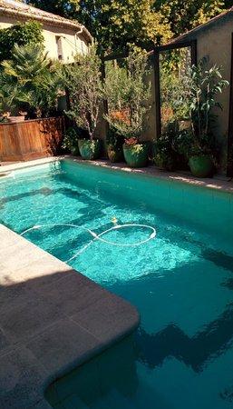 Hotel Pagy de Valbonne : La piscina nel cortile interno