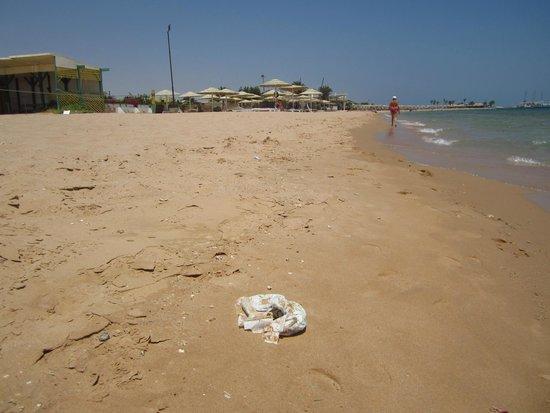 Magawish Village & Resort : pannolone in spiaggia