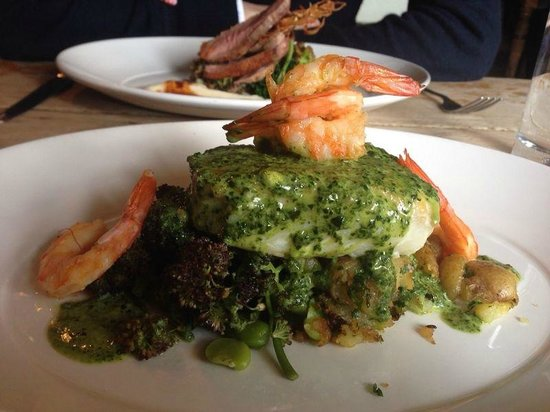 The Crooked Billet: Delicious haddock, purple broccoli and crushed potatoes
