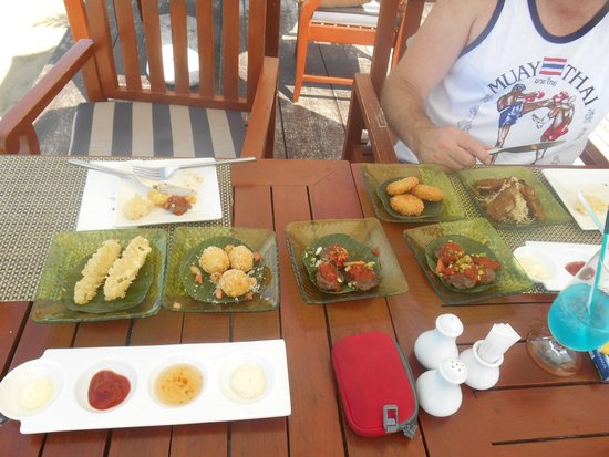 Samui Buri Beach Resort: tapas lunch